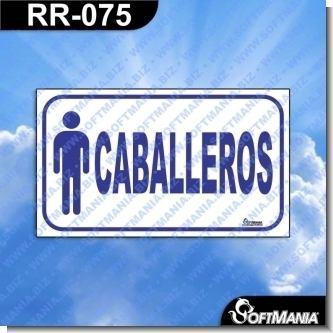 Lee el articulo completo Rotulo Prefabricado - CABALLEROS