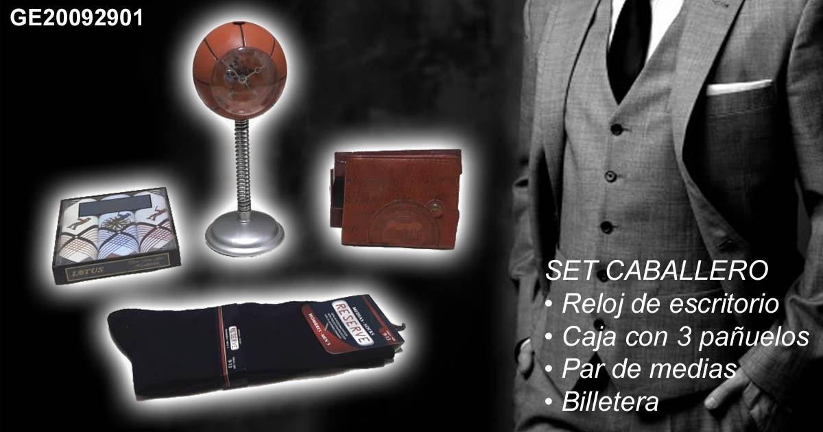 Lee el articulo completo Set para caballero:  Reloj basket, pañuelos, medias y billetera